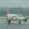 EasyJet Airbus A319 G-EZBY arrives at Birmingham Airport with my flight to Belfast.