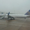 United Airlines Boeing 757-200 N17104 at Birmingham Airport.