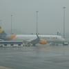 Thomas Cook Airbus A321 G-TCDK at Birmingham Airport.
