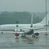 Boeing 737 BBJ 9H-AJW at Birmingham Airport.