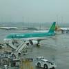 Aer Lingus Airbus A320 EI-EZW at Birmingham Airport.