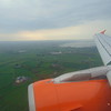 Coming in to land at Belfast International on EasyJet Airbus A319 G-EZBY.