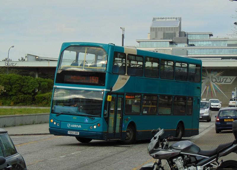 Arriva DAF DB250 East Lancs Lowlander FD02UKE 6062 at Milton Keynes Central station on the 150 from Aylesbury.