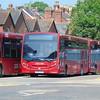 Salisbury Reds (GoAhead) Park and Ride Enviro 200 HF65AYG 2727 at the depot.