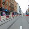 Final stages of construction on the Midland Metro City Centre extension, here on Corporation Street.