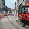 Final stages of construction on the Midland Metro City Centre extension.