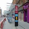 The new Corporation Street Midland Metro tram stop in Birmingham city centre.