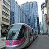 Midland Metro CAF Urbos 3 tram no. 29 at Birmingham Bull Street.