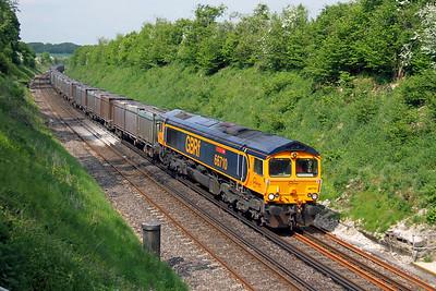 66710 Popham 27/05/16 4Y19 Mountfield to Southampton Western Docks
