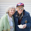JOED VIERA/STAFF PHOTOGRAPHER-Pendelton, NY- High school sweethearts Clarence and Betty Ball pick up a bowl of ice cream at Uncle G's.