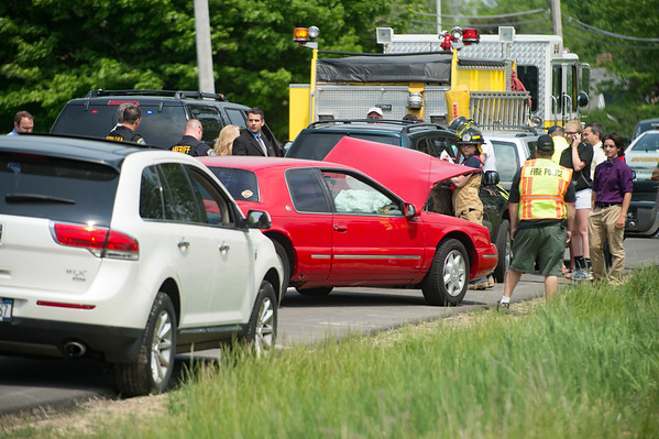 JOED VIERA/STAFF PHOTOGRAPHER-Pendleton, NY-The scene of  a second accident on Mapleton Road.