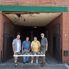 JOED VIERA/STAFF PHOTOGRAPHER-Lockport, NY- Russell Halstead, Ed Sandusky, Dave Azzinaro and Richard Forsey Outside of Art247.