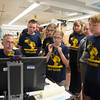 JOED VIERA/STAFF PHOTOGRAPHER-Lockport, NY-The Robot Rockers have a meeting in their workshop at Emmett Belknap.