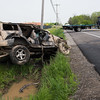 JOED VIERA/STAFF PHOTOGRAPHER-Pendleton, NY-The scene of an accident on Mapleton Road.