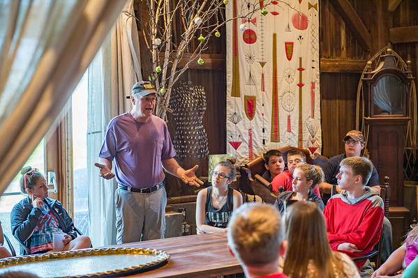 JOED VIERA/STAFF PHOTOGRAPHER-Olcott, NY-Tom Szulist talks to Newfane High School students at Singer Farms.