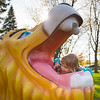 JOED VIERA/STAFF PHOTOGRAPHER-Lockport, NY-Aleah Pendleton 3 takes a drink from the lion fountain at Widewaters.