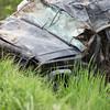 JOED VIERA/STAFF PHOTOGRAPHER-Pendleton, NY-The scene of an accident on Mapleton Road.