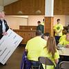 JOED VIERA/STAFF PHOTOGRAPHER-Lewiston, NY- General Motors' environmental manager Roy Knapp presents a check to Envirothon.