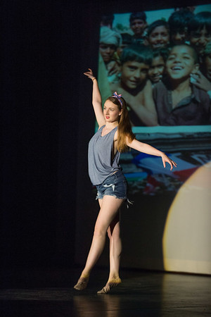 JOED VIERA/STAFF PHOTOGRAPHER-Lockport, NY-Lydia Winter dances to John Lennon's Imagine during the Lockport High School Talent Show.