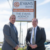 JOED VIERA/STAFF PHOTOGRAPHER-Lockport, NY- Branch Manager Nick Mroz and Universal Banker David Clifford at Evans Bank.