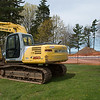 JOED VIERA/STAFF PHOTOGRAPHER-Olcott, NY- An excavator sits in front of the Ye Old Cabin site.