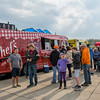 JOED VIERA/STAFF PHOTOGRAPHER-Pendleton, NY- Food fans flock to food truck night at Starpoint High School.