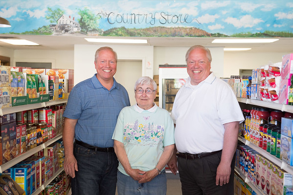 JOED VIERA/STAFF PHOTOGRAPHER-Lyndonville, NY- Brian Spencer, Marilyn Lartz and Bruce Spencer stanf inside the soon to be reopened The Country Store.