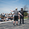 JOED VIERA/STAFF PHOTOGRAPHER-Barker, NY- Barker students watch a DWI test during a safety demonstration.