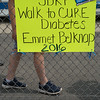 JOED VIERA/STAFF PHOTOGRAPHER-Lockport, NY-Emmett Belknap students and teachers walk around Max D. Lederer Field to raise awareness for juvenile diabetes. The school has two students with the disease.
