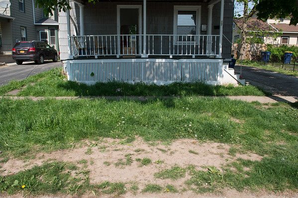 JOED VIERA/STAFF PHOTOGRAPHER-Lockport, NY-A lawn outside of a Adams Street home grows.