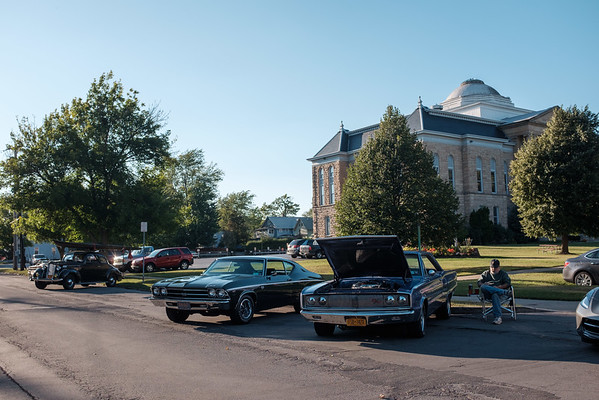 JOED VIERA/STAFF PHOTOGRAPHER-Lockport, NY- Classic car owners show off their rides at the last car cruise of the year.
