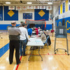 JOED VIERA/STAFF PHOTOGRAPHER-Lockport, NY- Lockport City School residents vote for the school board and budget at Lockport High School.