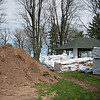JOED VIERA/STAFF PHOTOGRAPHER-Olcott, NY- Materials sit in front of the Ye Old Cabin construction site.
