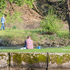 JOED VIERA/STAFF PHOTOGRAPHER-Lockport, NY- People enjoy the weather on the trails below the locks on the canal.