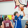 JOED VIERA/STAFF PHOTOGRAPHER-Pendleton NY- Newfane High School's  Matt Murray goes up for two points Unified Sports basketball scrimmage against Eden at Starpoint High School.
