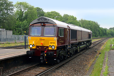 66743 Micheldever 30/05/16 0E66 Eastleigh to Doncaster Roberts Road