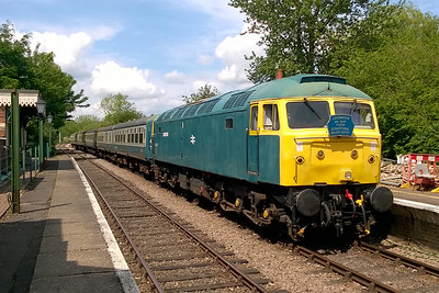 In full Spring sunshine, 47367 pauses at Thuxton with the 1200 from Dereham to Wymondham Abbey (22/05/2016)