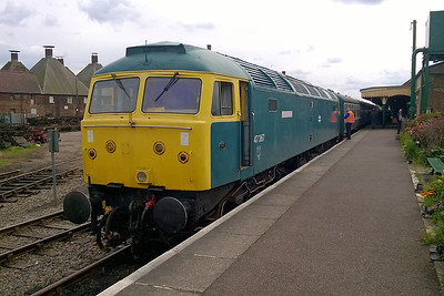 47367 is pictured again on arrival back at Dereham with the 1315 from Wymondham Abbey (22/05/2016)