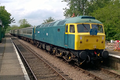 En route to Wymondham Abbey for the third and final time today, 47367 awaits the arrival of 47596 from the south at Thuxton (12/05/2016)