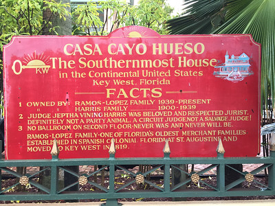 This should say almost the southernmost house.