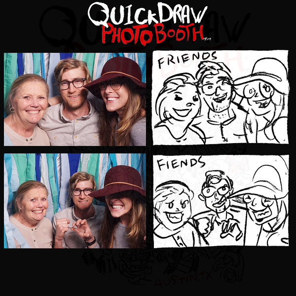 """<b>Click <a href=""""https://quickdrawphotobooth.smugmug.com/Other/Micasa"""" target=""""_blank""""> HERE</a> to purchase hi-res prints.</b><p></p><p><b> Then hit the <font color=""""green""""> BUY</font> Button.</b></p><p><b>(Square-sized prints recommended.)</b></p>"""