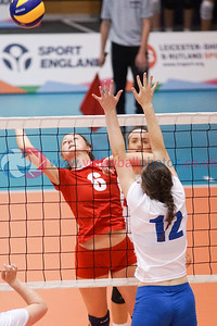 England Junior Girls v Scotland East Girls, 2016 School Games, Sir David Wallace Sports Hall, Loughborough University, Thu 1st Sep 2016.  © Michael McConville   http://www.volleyballphotos.co.uk/2016/Misc/20160901-uksg