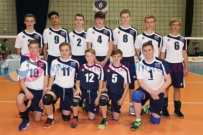 Scotland West Boys, 2016 School Games, Sir David Wallace Sports Hall, Loughborough University, Thu 1st Sep 2016.  © Michael McConville   http://www.volleyballphotos.co.uk/2016/Misc/20160901-uksg