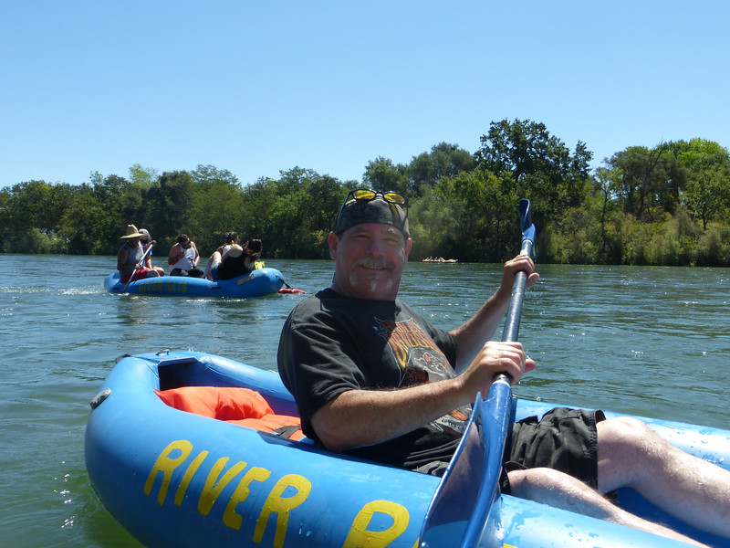 Jeff on the american river  July 2016