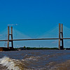 Africatown Bridge Barge Traffic Mobile River Mobile AL_1253