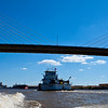 Africatown Bridge Barge Traffic Mobile River Mobile AL_1328