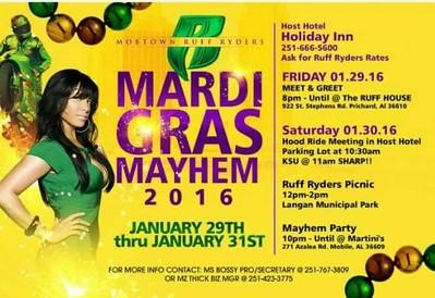 Mobile Ruff Ryders Mardi Gras Mayhem