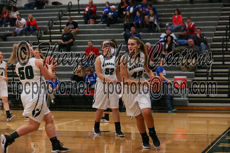 Owen Valley @ Monrovia Girls BB, 12/3/2016,  Photo by Eric Thieszen.