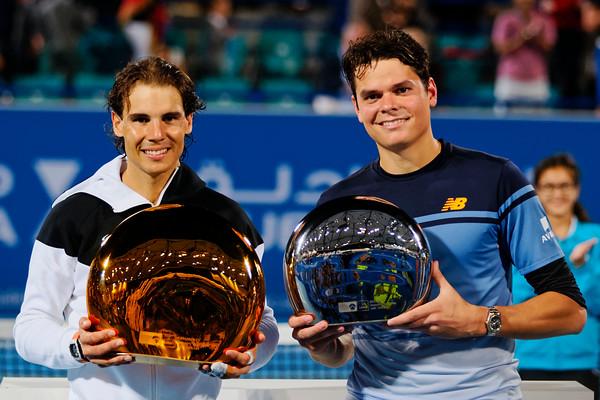 01.04a Finalists Rafael Nadal and Milos Raonic - Mubadala WTC 2016