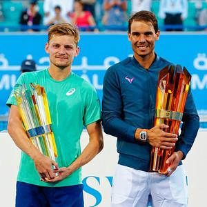 01.04a Finalists David Goffin and Rafael Nadal - Mubadala WTC december 2016